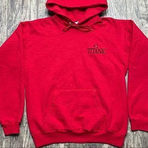 Vintage Titanic Red Hoodie Sweatshirt Size Medium